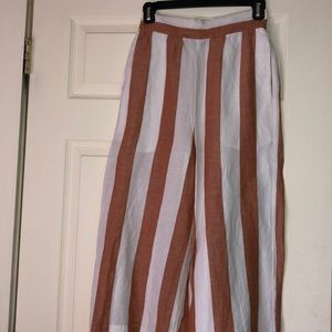 Madewell striped wide leg pants